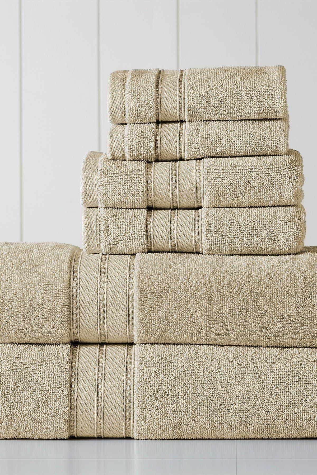 Image of Modern Threads SpunLoft 6-Piece Towel Set - Sand