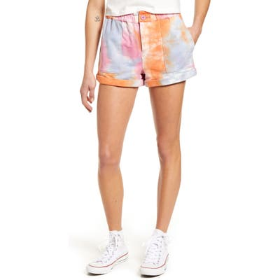 Blanknyc Tie Dye Sweat Shorts, Orange