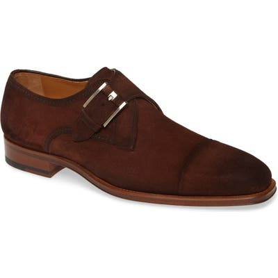 Magnanni Lennon Monk Strap Shoe- Brown