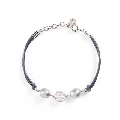Tory Burch Logo Pearl Bracelet