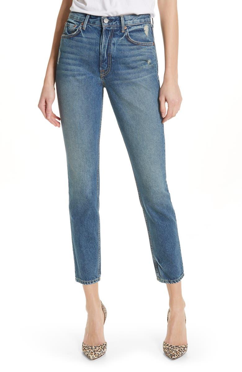 GRLFRND Karolina High Waist Skinny Jeans, Main, color, CLOSE TO YOU