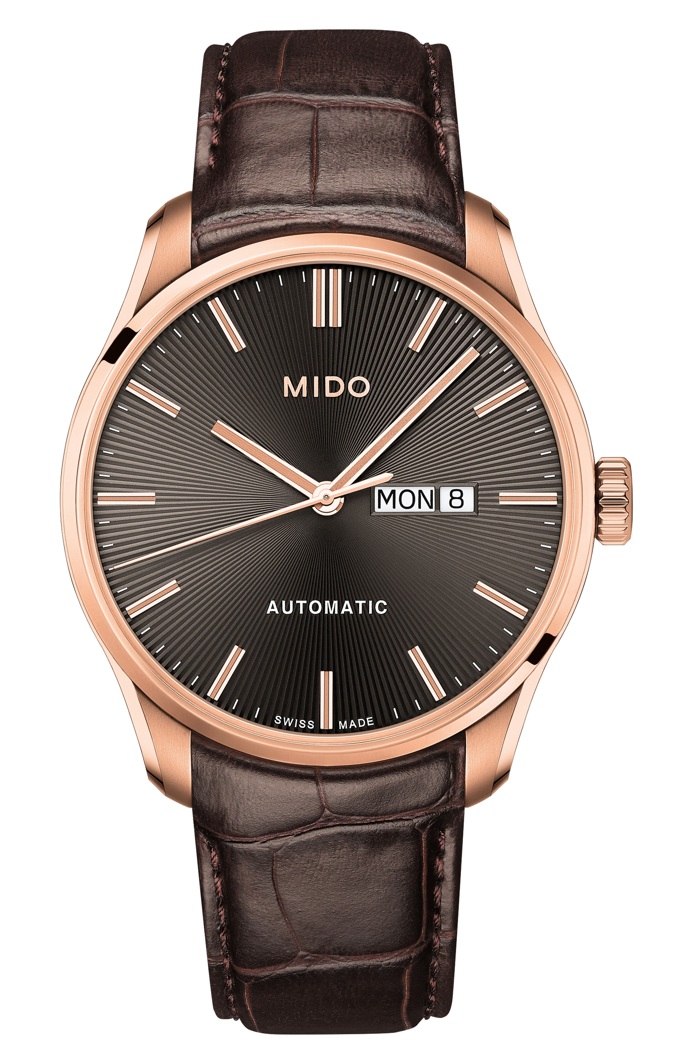 Belluna Ii Leather Strap Watch