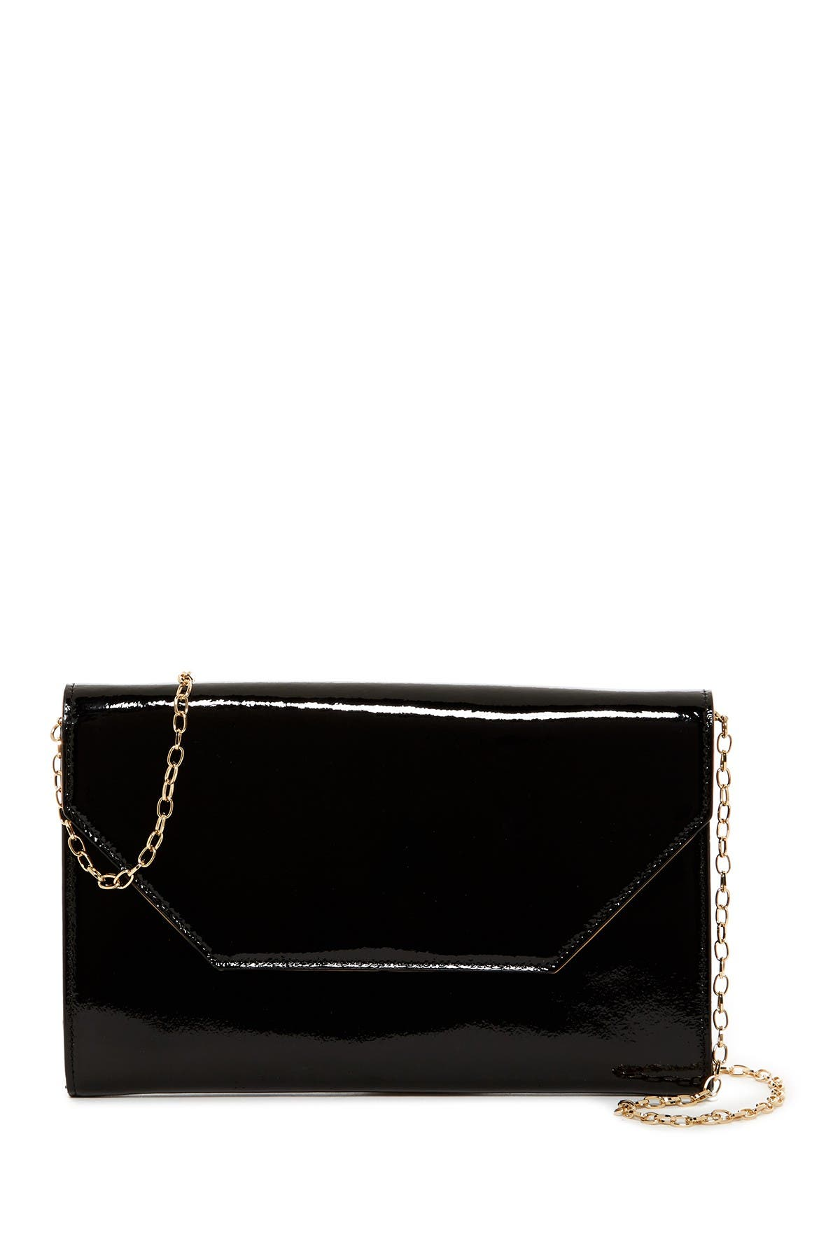 Image of Halogen Patent Leather Clutch