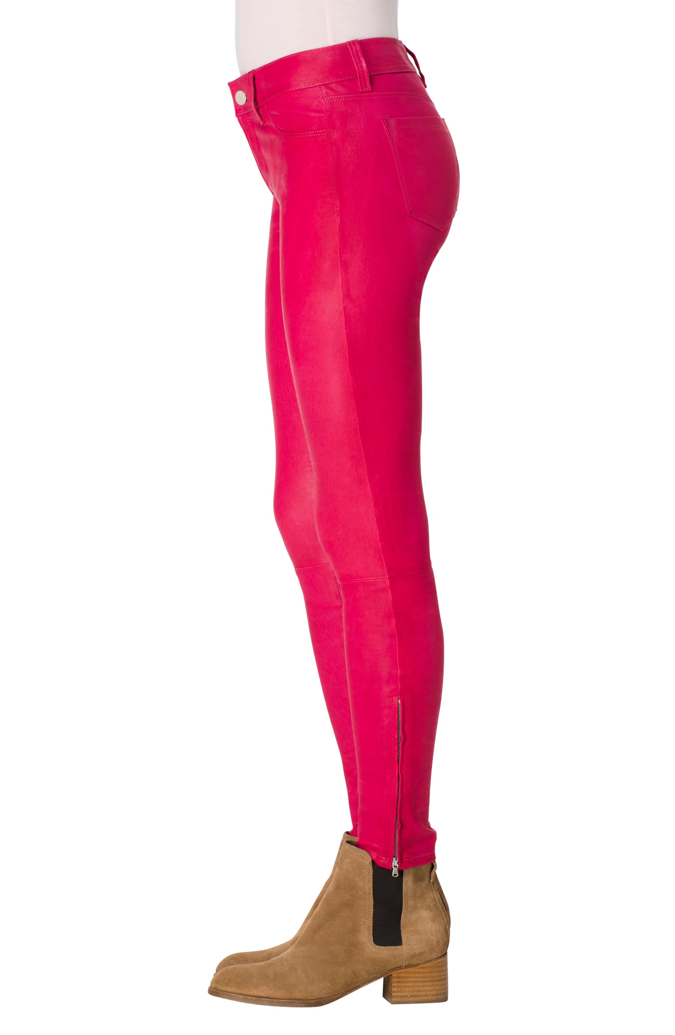,                             '8001' Lambskin Leather Pants,                             Alternate thumbnail 77, color,                             670