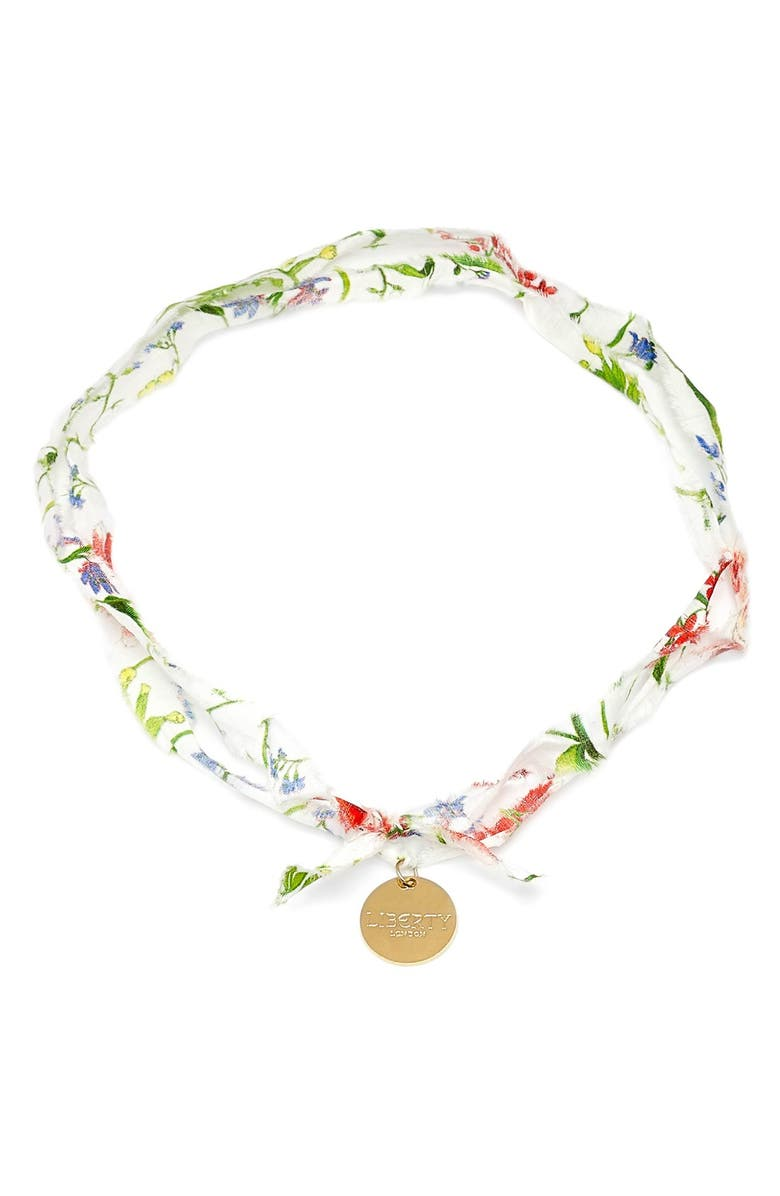 FLOWERS OF LIBERTY Floral Print Charm Necklace, Main, color, 110