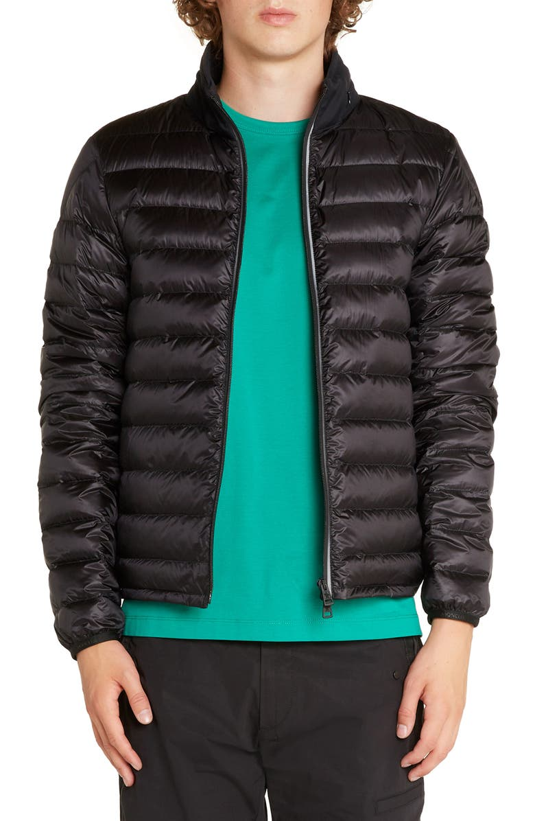 MONCLER Laurence Down Quilted Puffer Jacket, Main, color, BLACK