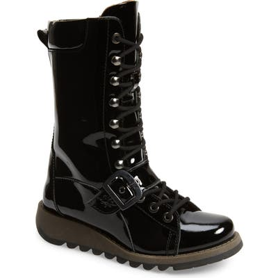 Fly London Selu Lace-Up Boot - Black