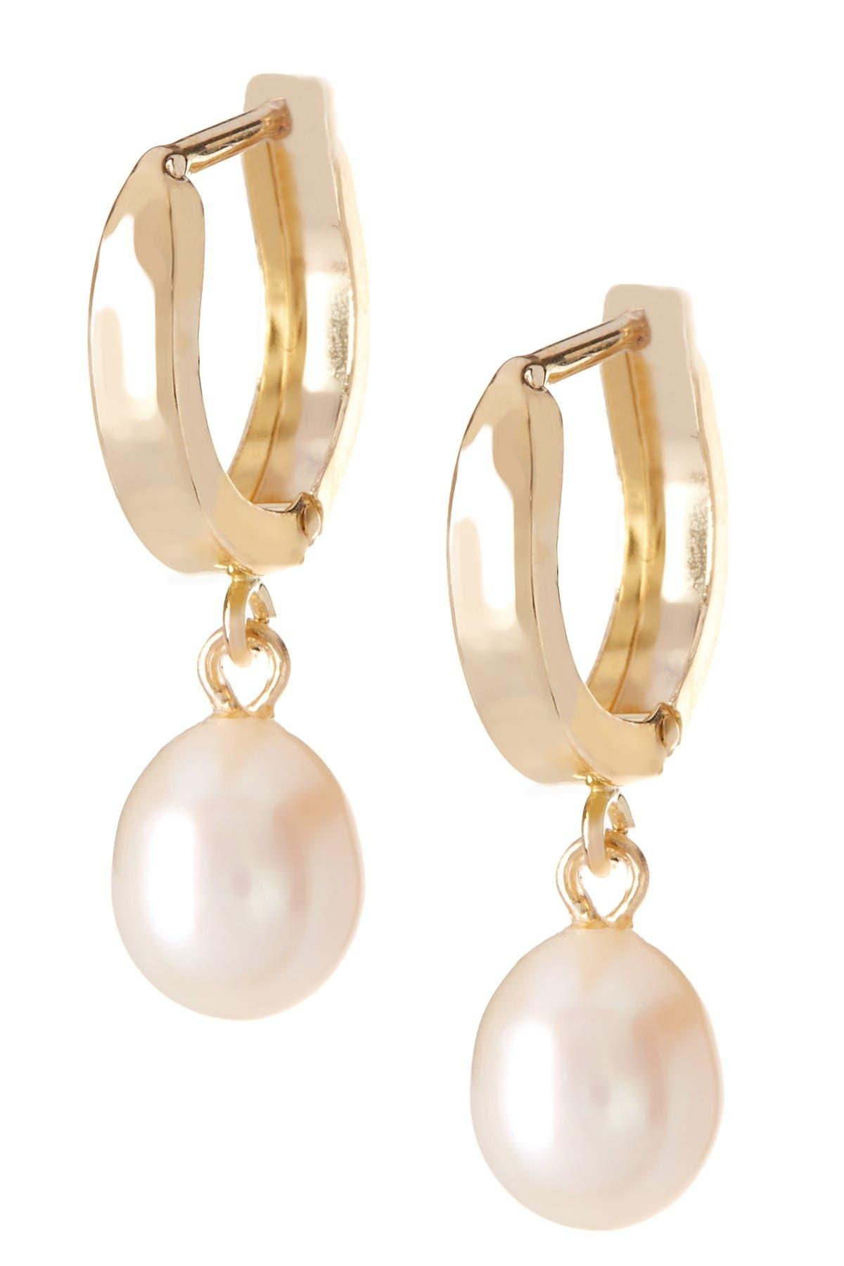 Splendid Pearls Dangle 6-6.5mm Pearl Huggie Earrings at Nordstrom Rack