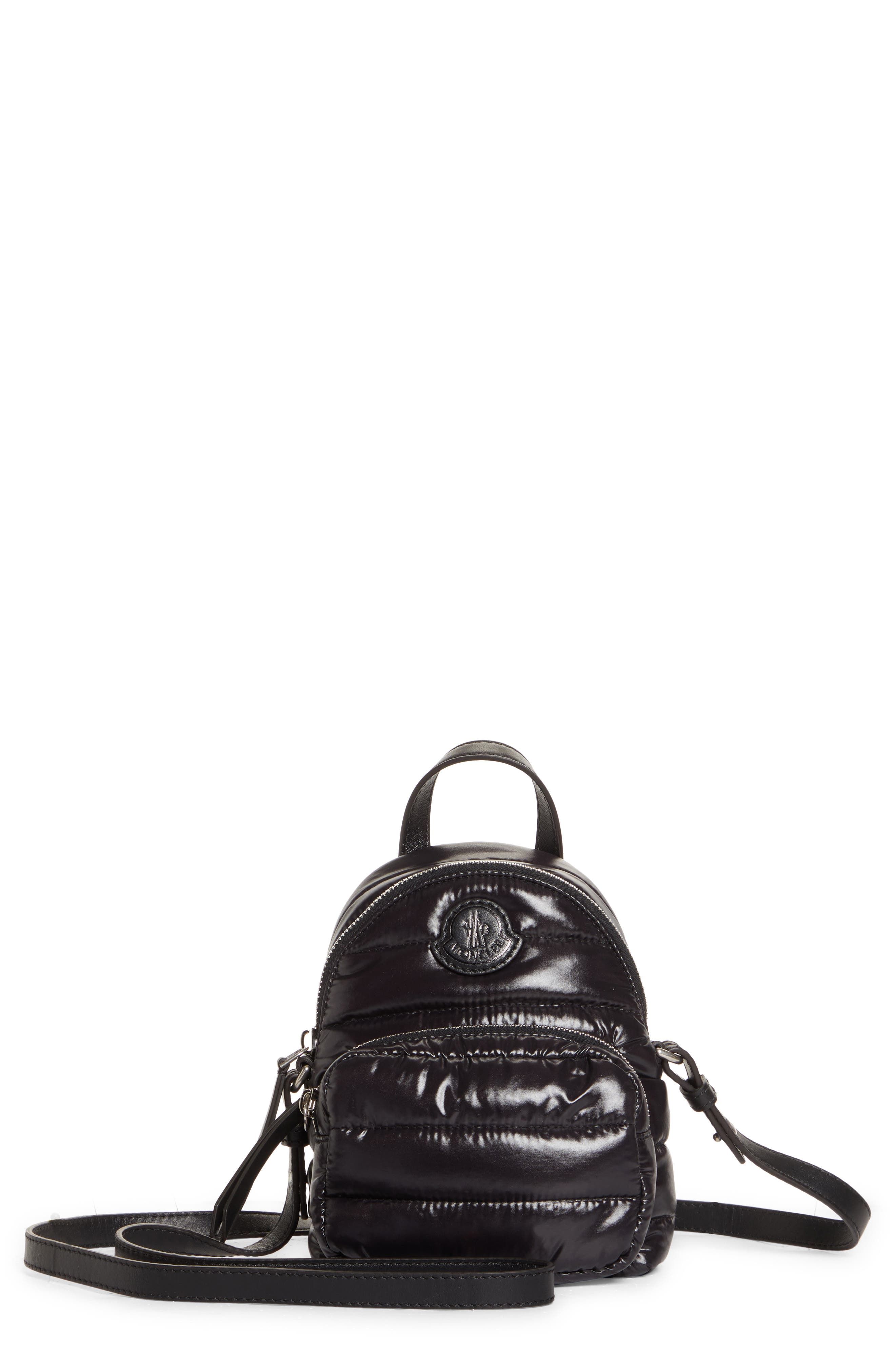 Moncler Kilia Small Quilted Crossbody Backpack - Black
