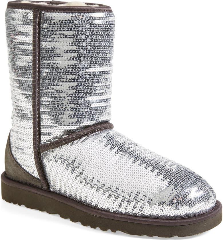 UGG<SUP>®</SUP> Australia 'Classic Short Sparkles' Boot, Main, color, 010