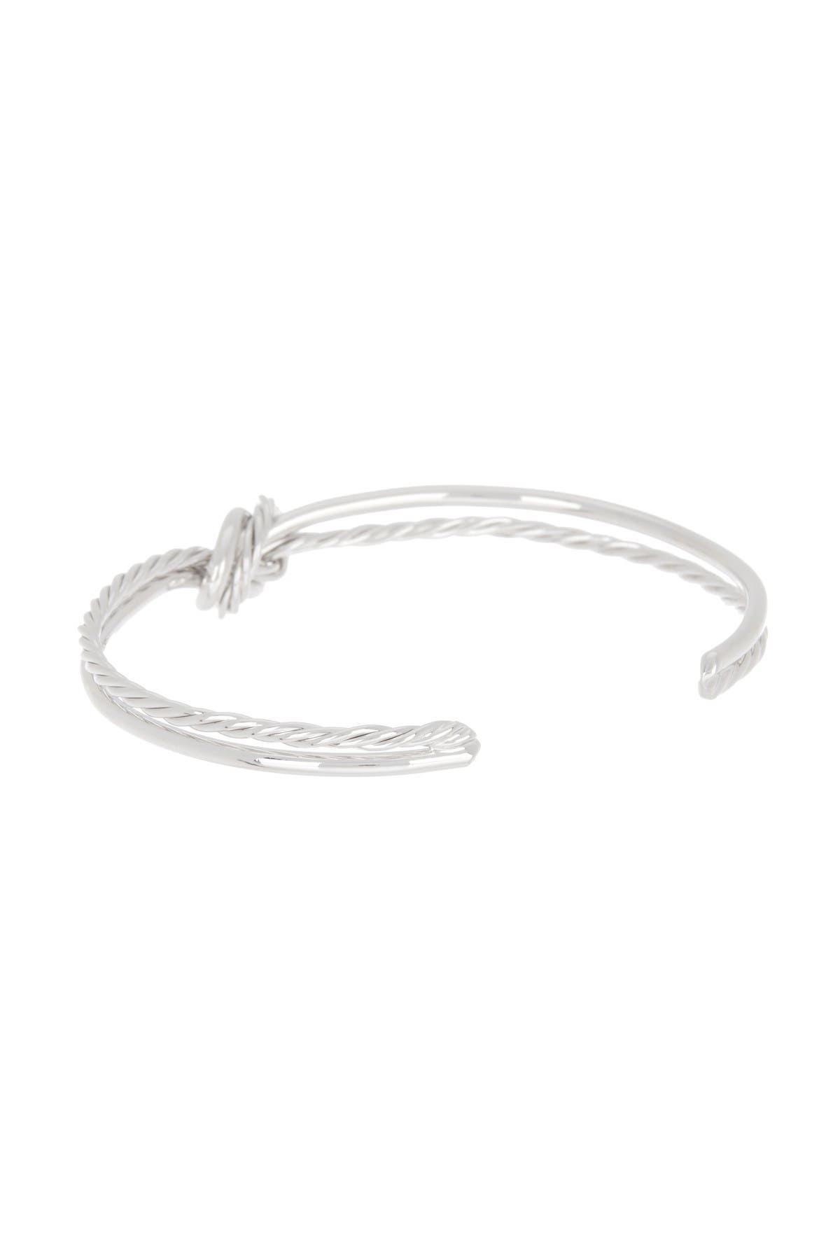 Image of Meshmerise Twisted Cable Multi Row Love Knot Cuff Bangle