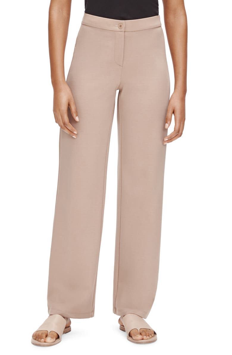 EILEEN FISHER Straight Leg Ankle Pants, Main, color, BRAMBLE