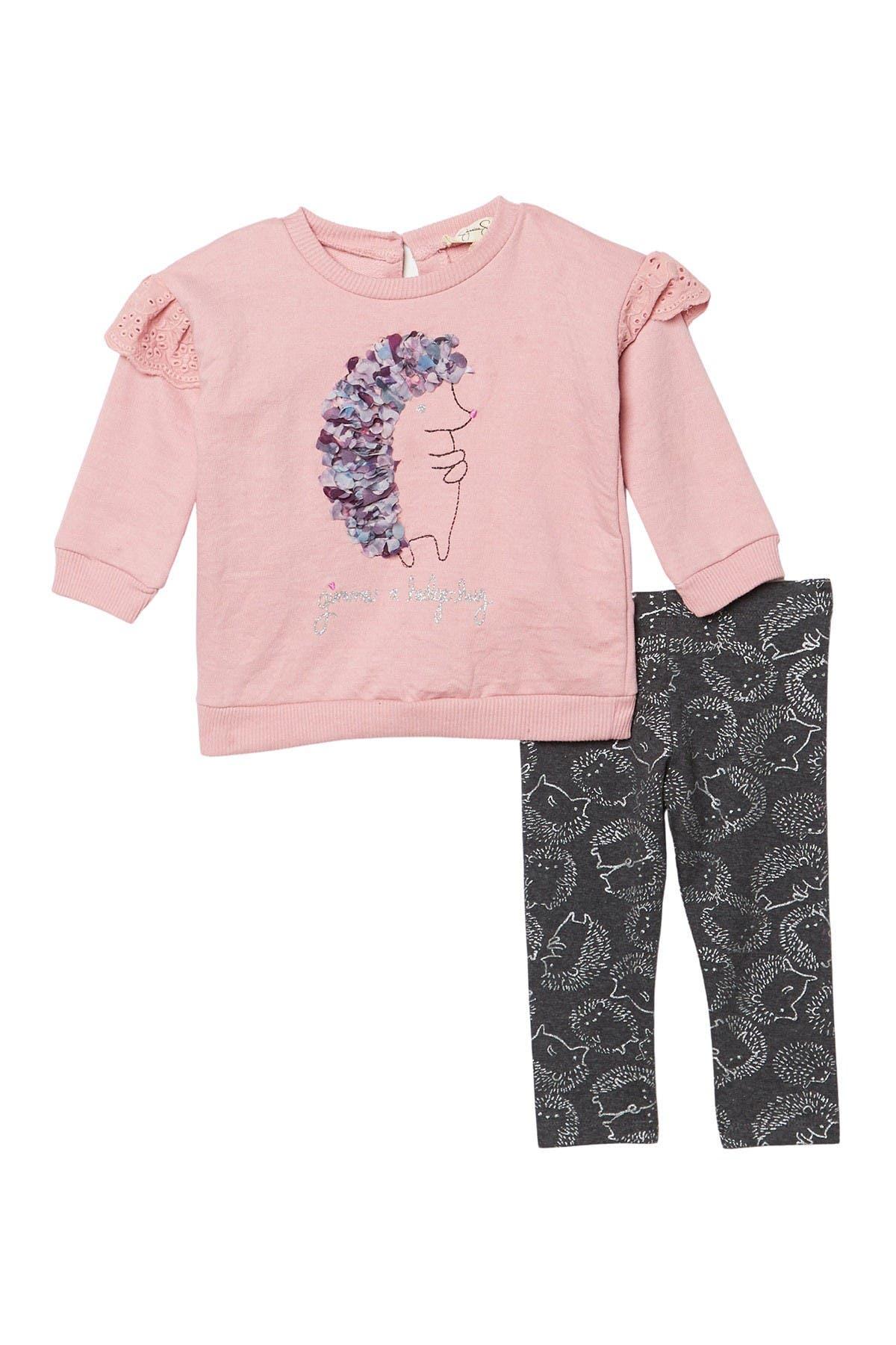 Image of Jessica Simpson Hedgehog Sweatshirt & Leggings Set