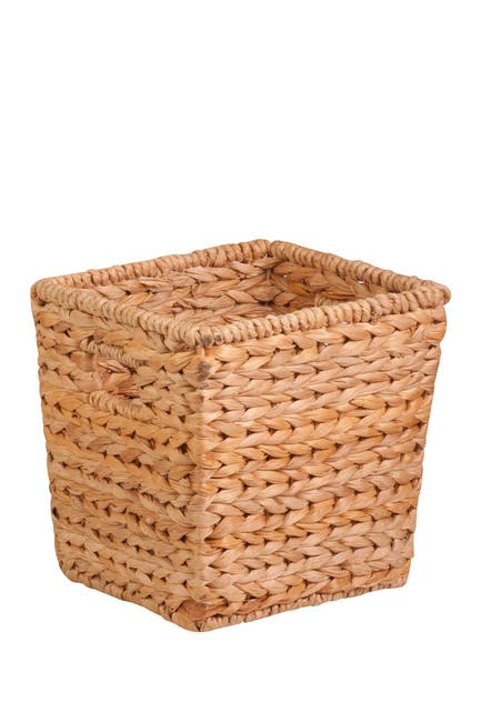 Image of Honey-Can-Do Medium Tall Square Water Hyacinth Natural Basket