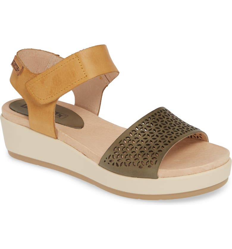 PIKOLINOS Mykonos 2 Platform Wedge Sandal, Main, color, MAR LEATHER