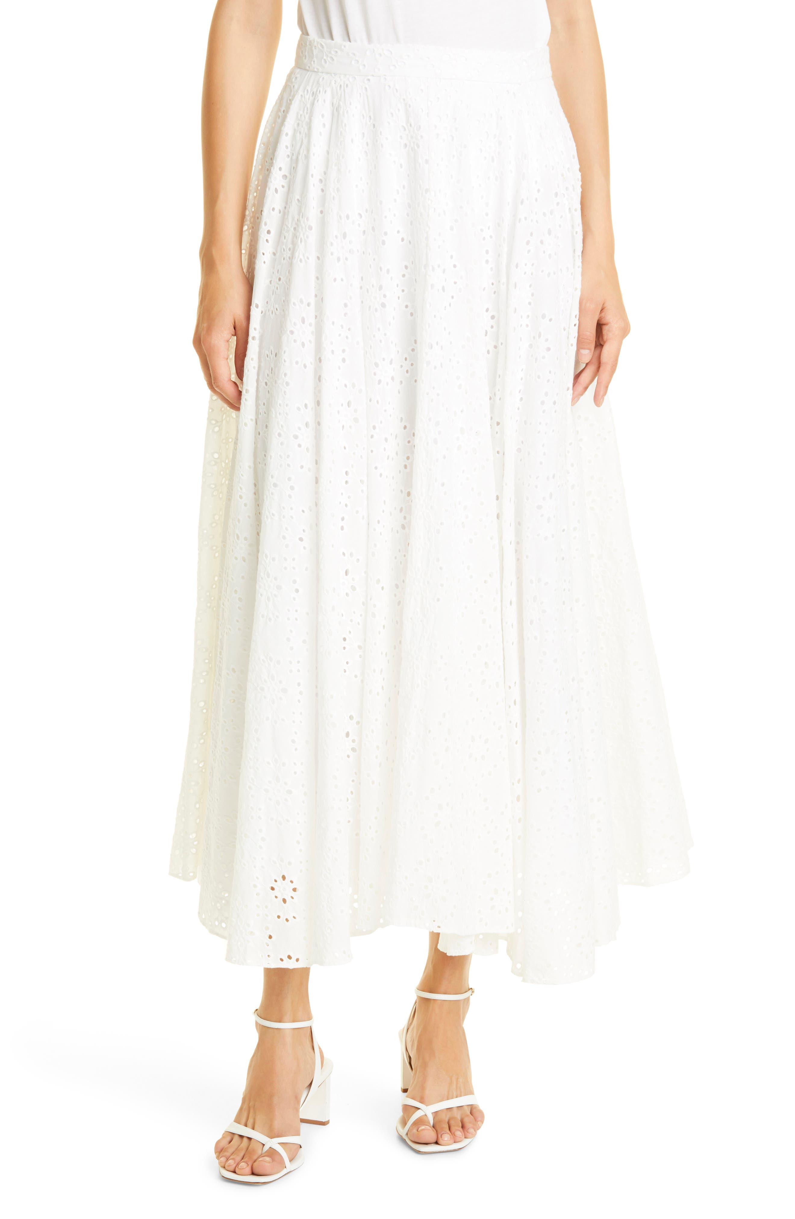 Aquinnah Cotton Eyelet Skirt