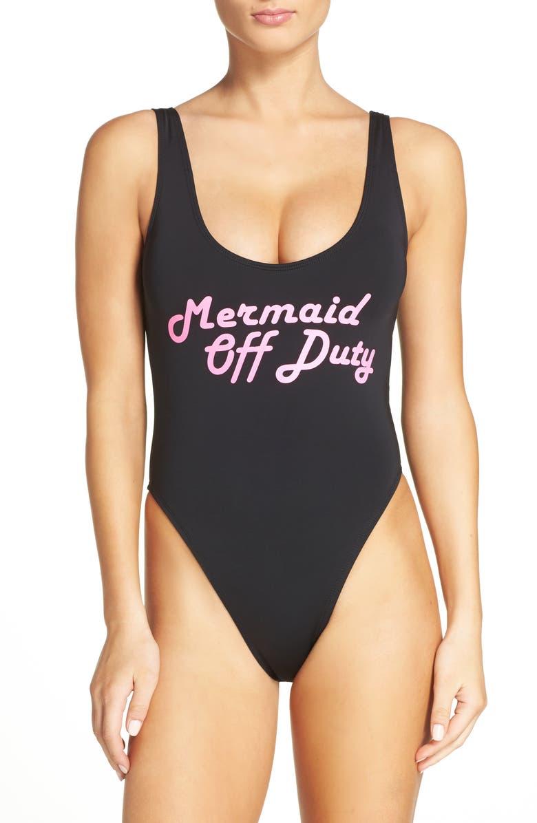 THE BIKINI LAB Summer Dayz One-Piece Swimsuit, Main, color, 001