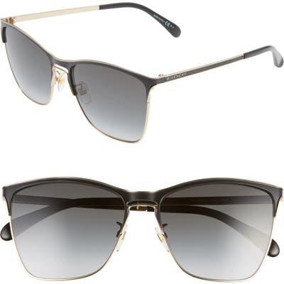 Givenchy 5m Cat Eye Sunglasses - Black Gold/ Dkgrey Gradient