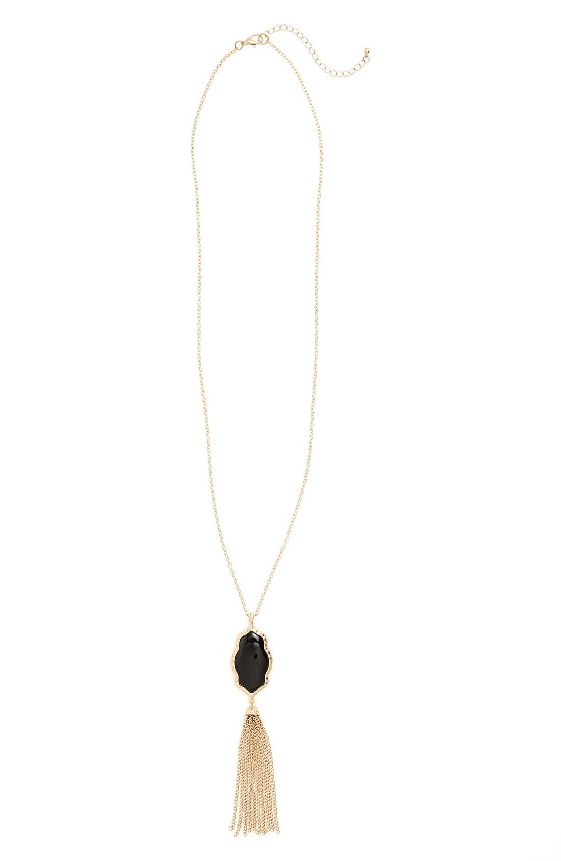 ,                             Stone Fringe Pendant Necklace,                             Main thumbnail 2, color,                             001