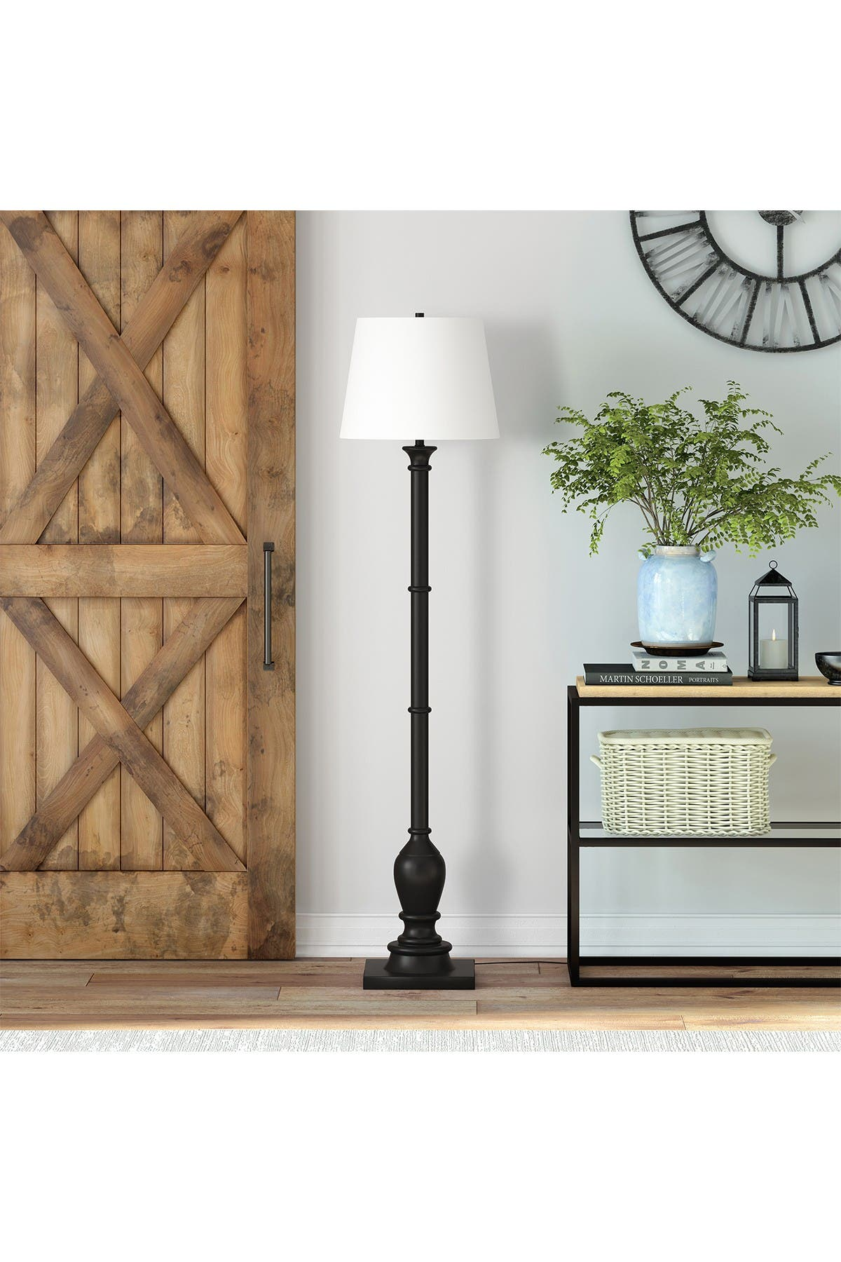 Image of Addison and Lane Minnie Farmhouse Empire Shade Blackened Bronze Lamp