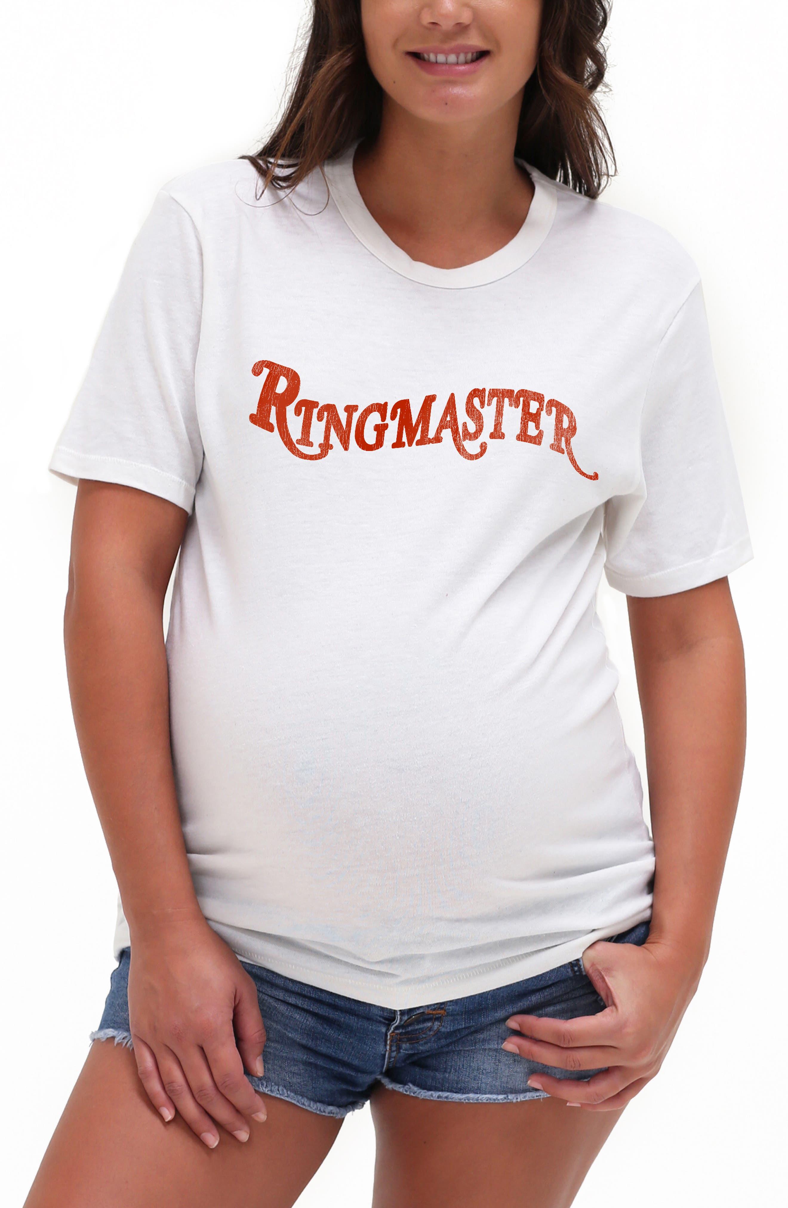 Ringmaster Maternity Graphic Tee
