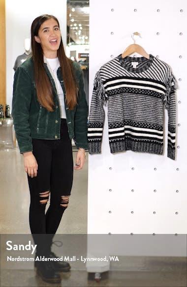 Fringe Sleeve Stripe Sweater, sales video thumbnail
