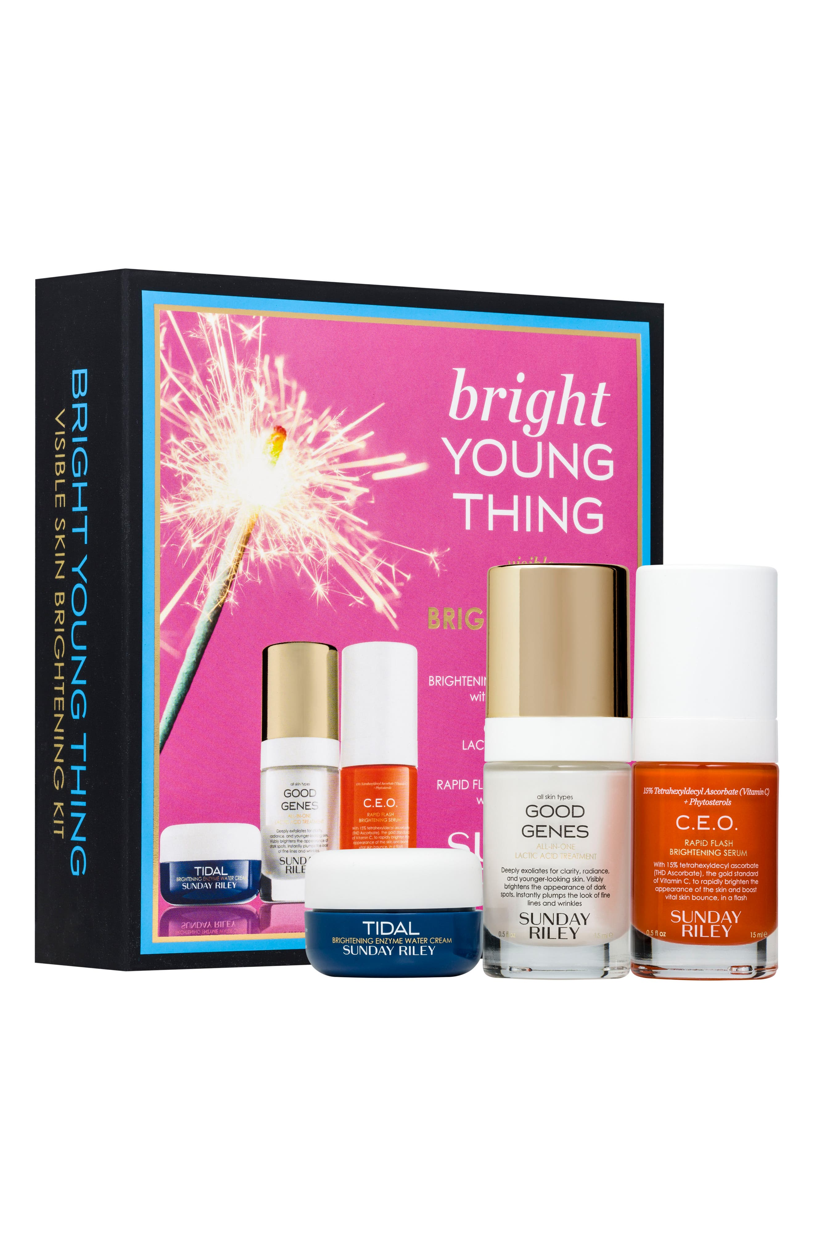 SPACE.NK.apothecary Sunday Riley Bright Young Thing Set, Main, color, NO COLOR