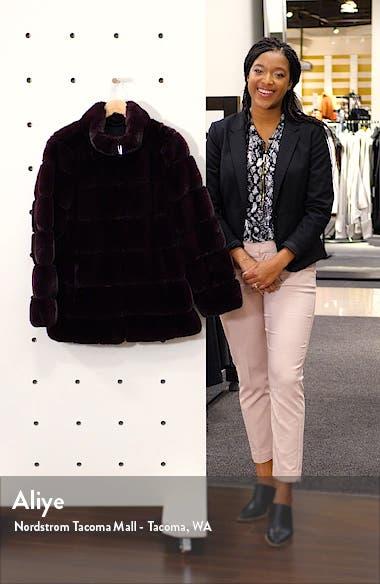 Faux Fur Stand Collar Coat, sales video thumbnail