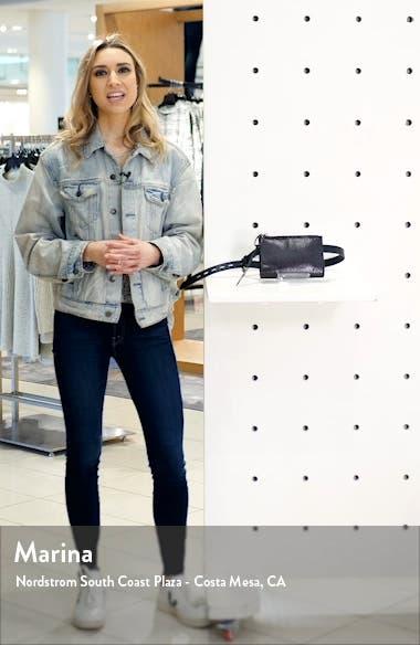 Snake Embossed Patent Leather Belt Bag, sales video thumbnail