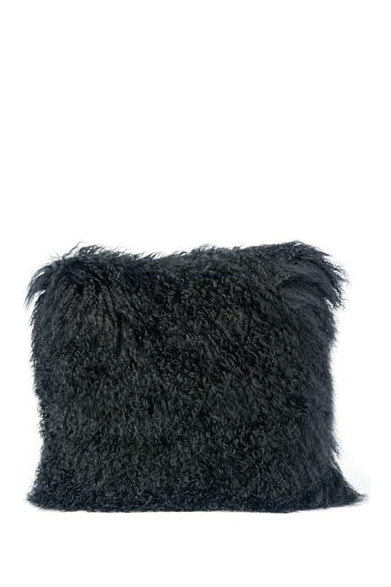 Image of TOV Furniture Tibetan Sheep Black Large Pillow