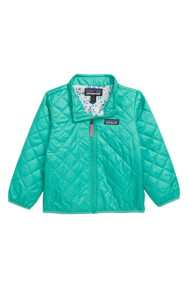 PATAGONIA Nano Puff<sup>®</sup> Quilted Water Resistant Jacket, Main, color, PLGR PLAINS GREEN