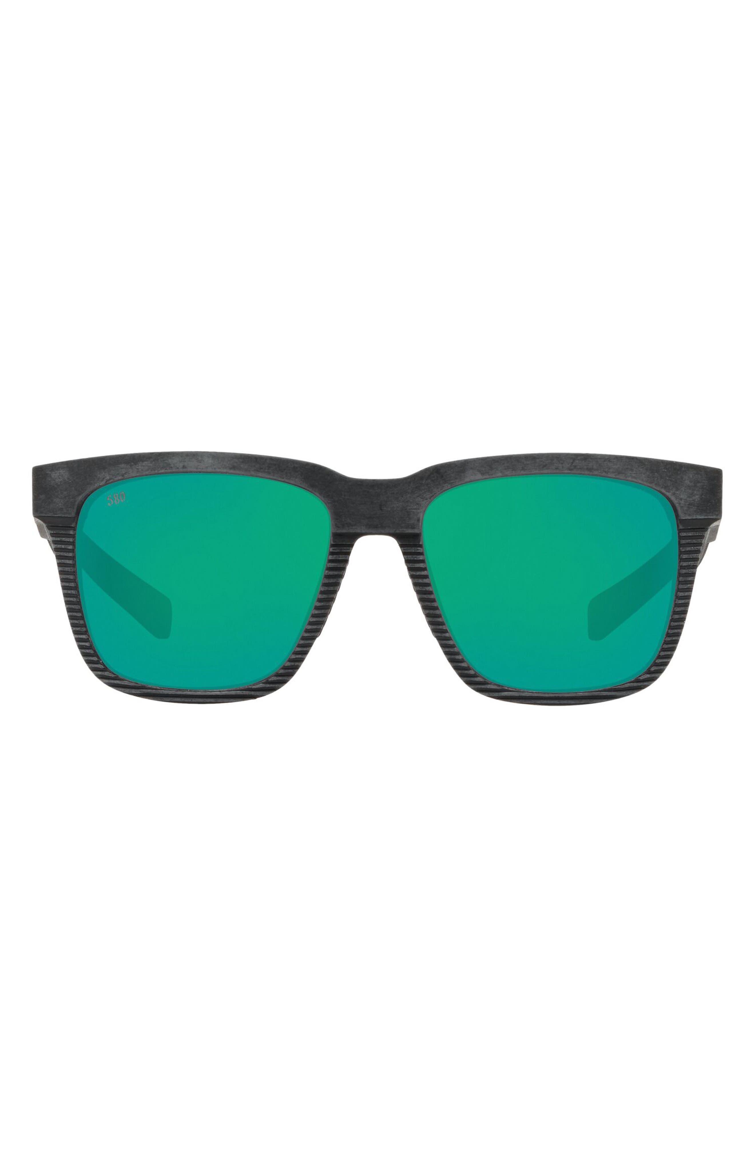 Pescador 55mm Mirrored Polarized Sunglasses