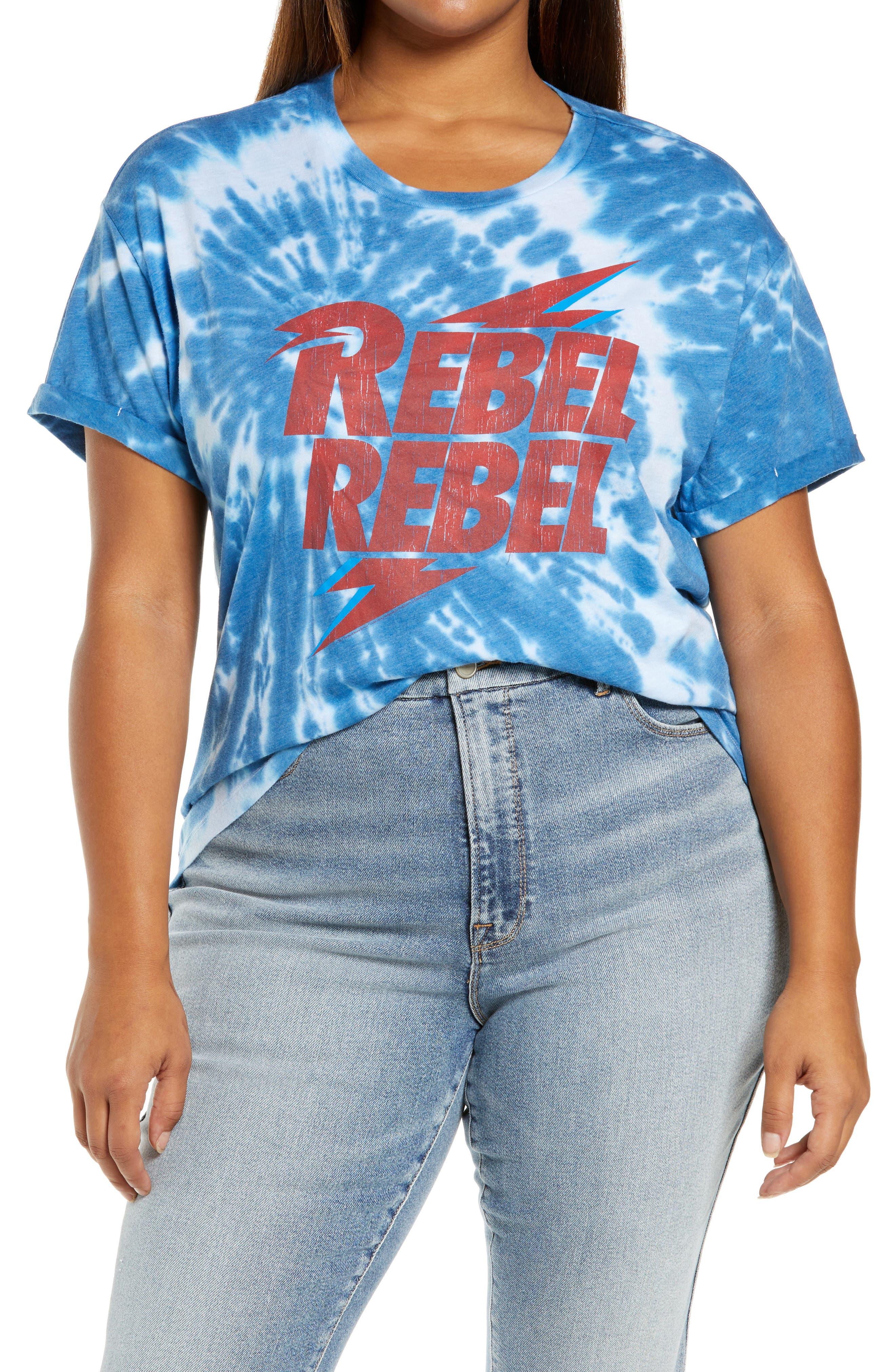Rebel Rebel Tie Dye Graphic Tee