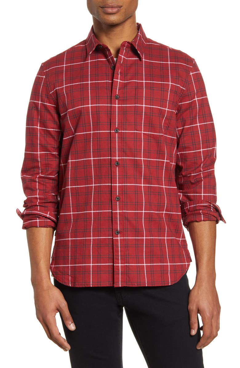 FRENCH CONNECTION Regular Fit Workwear Plaid Button-Up Shirt, Main, color, 600