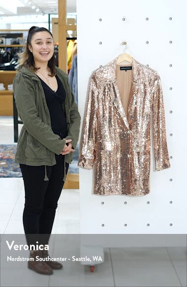 Sequin Double Breasted Blazer, sales video thumbnail