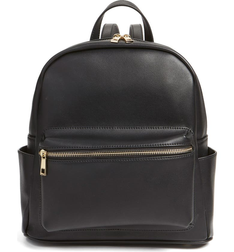 0f161ccc3939 Faux Leather Mini Backpack, Main, color, 001