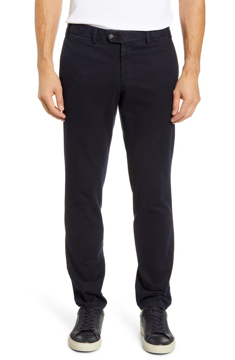 HILTL Tierre Slim Fit Washed Twill Pants, Main, color, 410