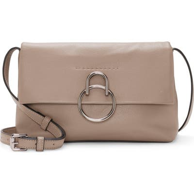 Vince Camuto Plum Leather Crossbody Bag - Grey