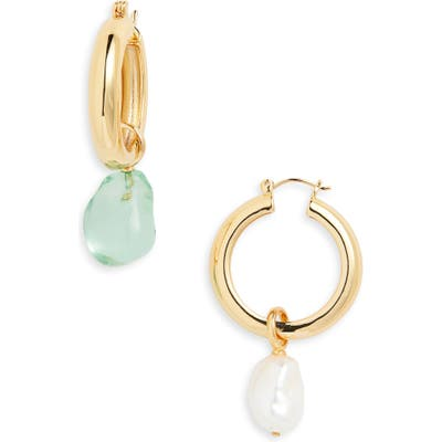 Lizzie Fortunato Island Mismatched Hoop Earrings