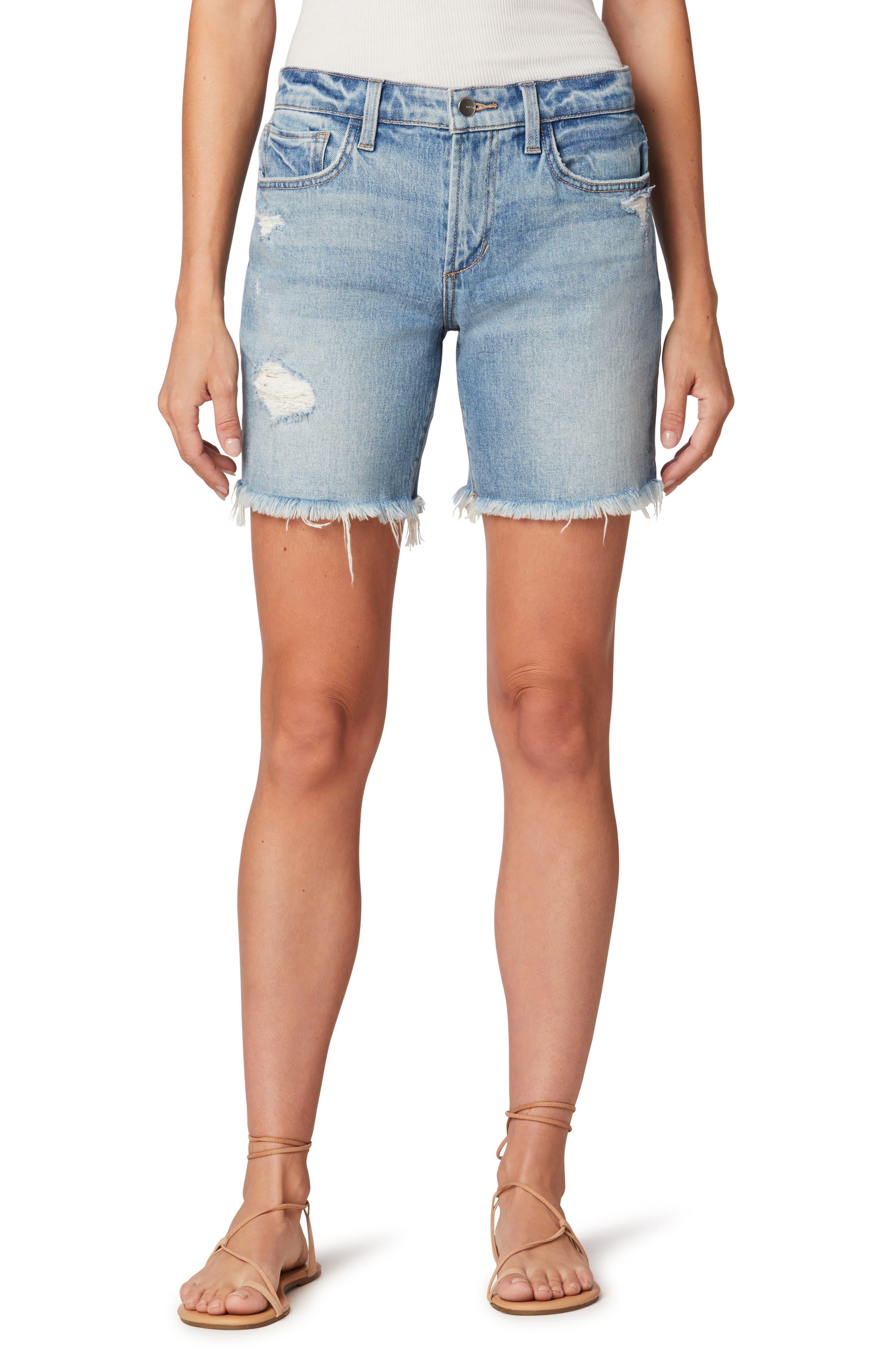 The Lara Ripped Denim Bermuda Shorts