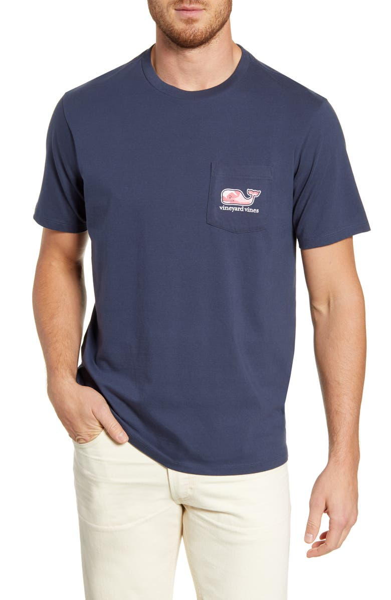 VINEYARD VINES Sea of Fish Pocket T-Shirt, Main, color, 406