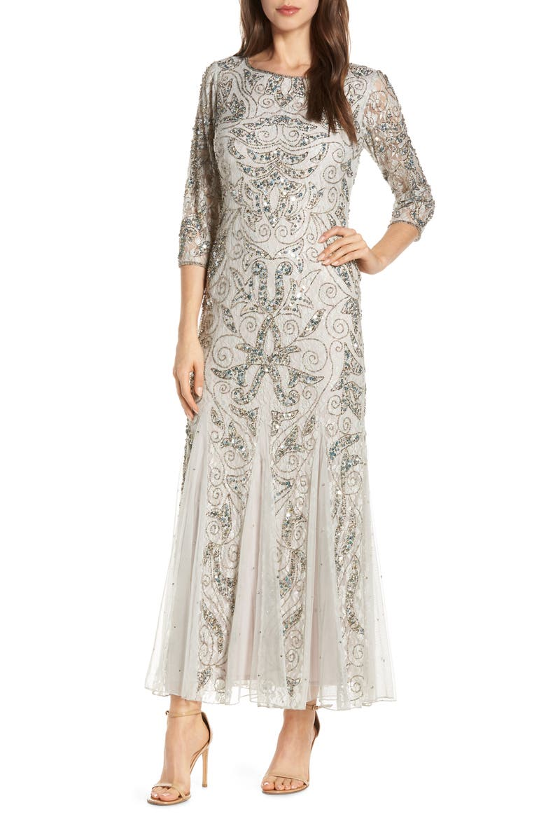 41af26ce97a7 Pisarro Nights Beaded Lace Gown (Regular & Petite) | Nordstrom