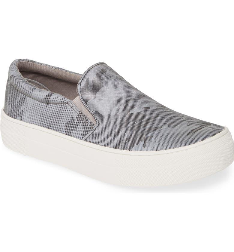 STEVE MADDEN Gills Platform Slip-On Sneaker, Main, color, GREY METALLIC