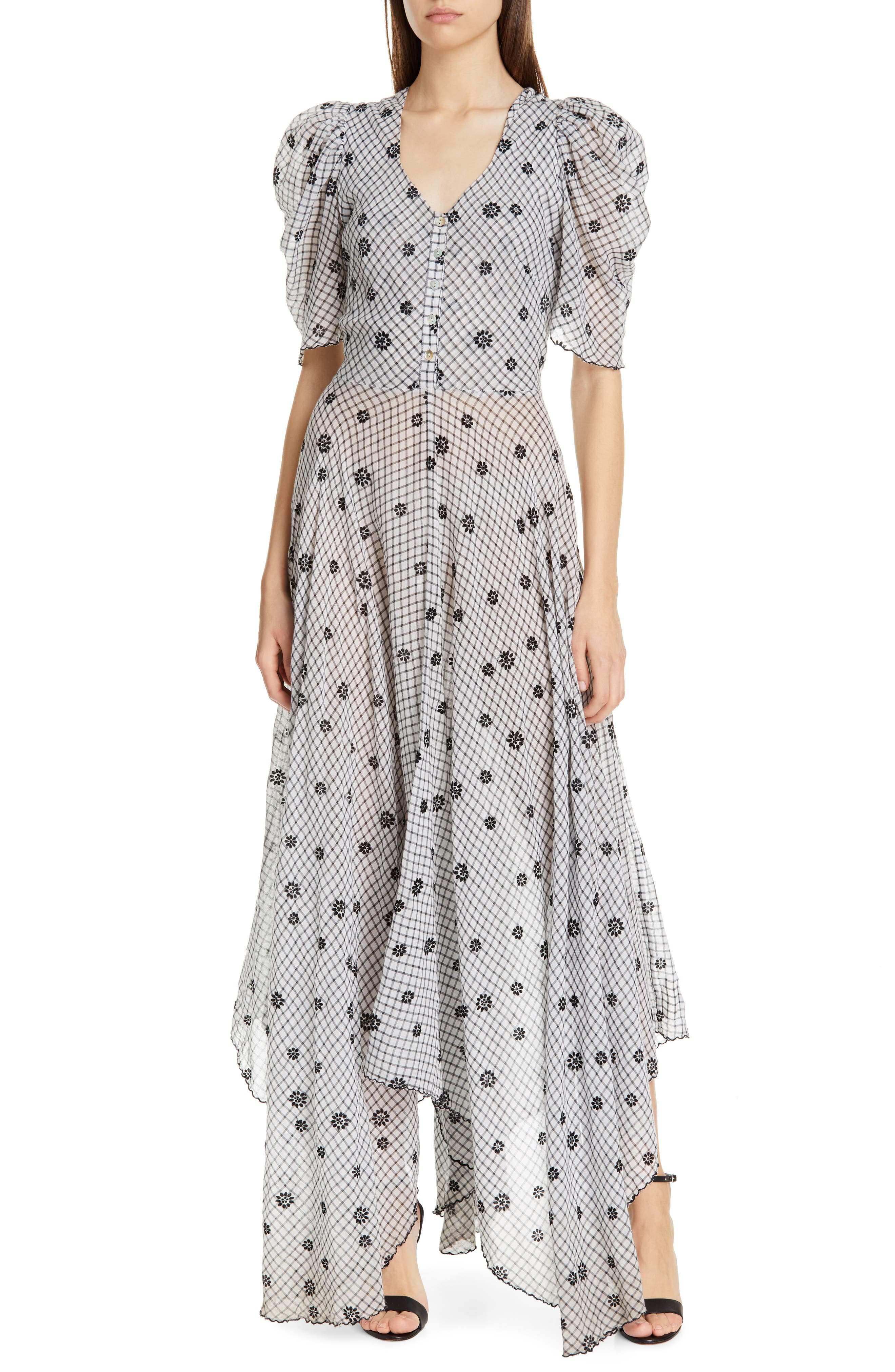 Loveshackfancy Coralie Maxi Dress, Black