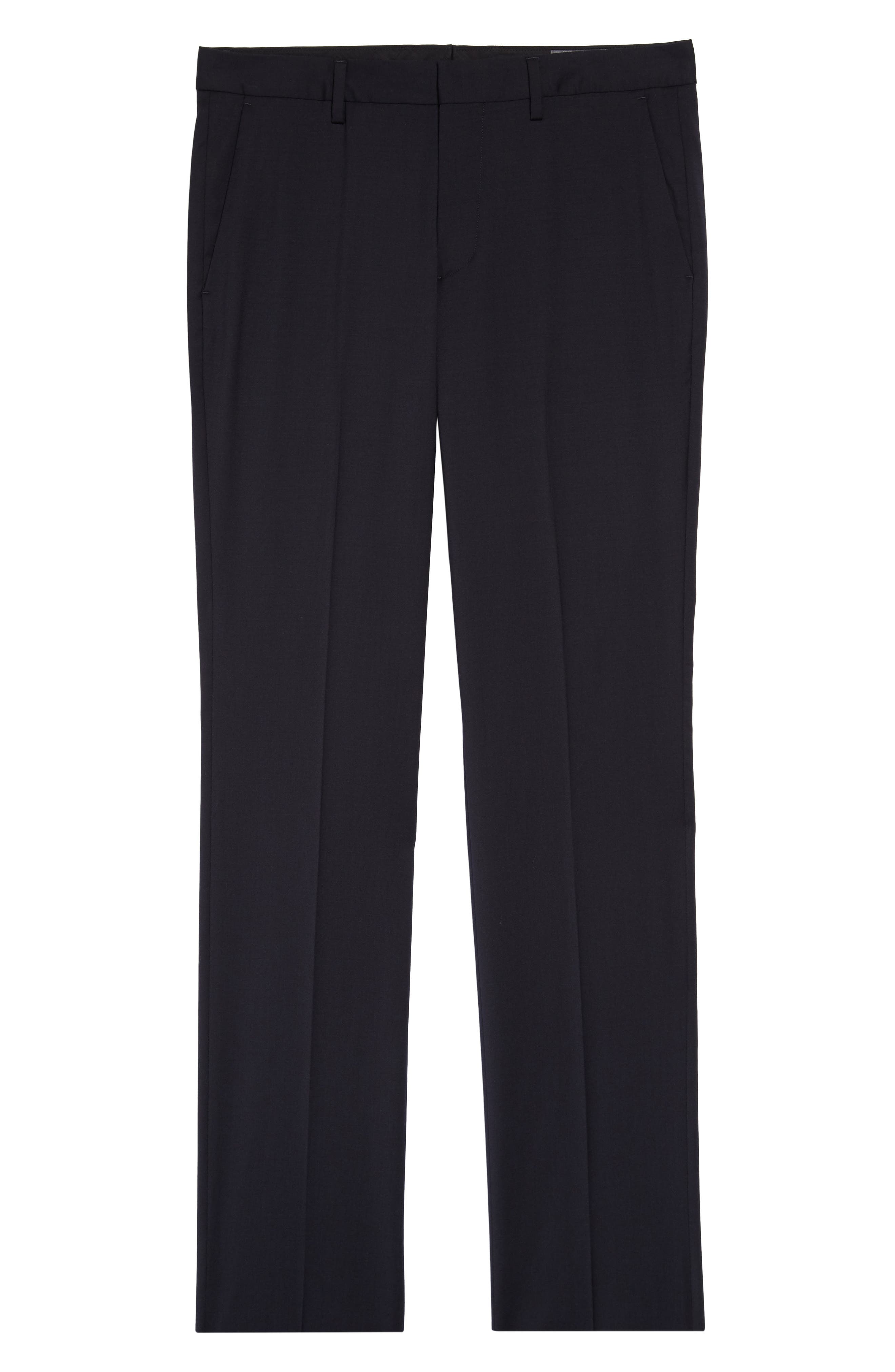 ,                             Jetsetter Slim Fit Flat Front Stretch Wool Trousers,                             Alternate thumbnail 33, color,                             400