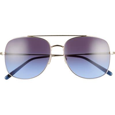 Oliver Peoples Taron 5m Gradient Aviator Sunglasses - Gold/ Dark Gradient