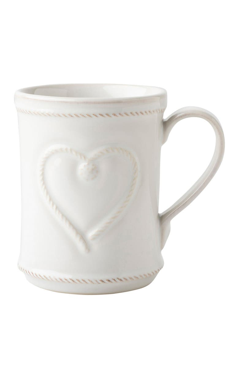 JULISKA Cupfull of Love Ceramic Mug, Main, color, WHITE