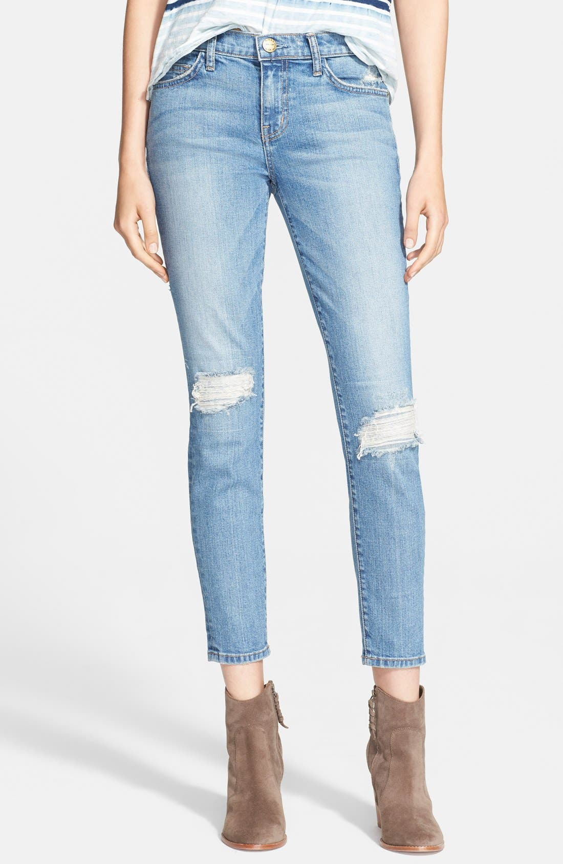 ,                             'The Stiletto' Destroyed Skinny Jeans,                             Main thumbnail 7, color,                             456