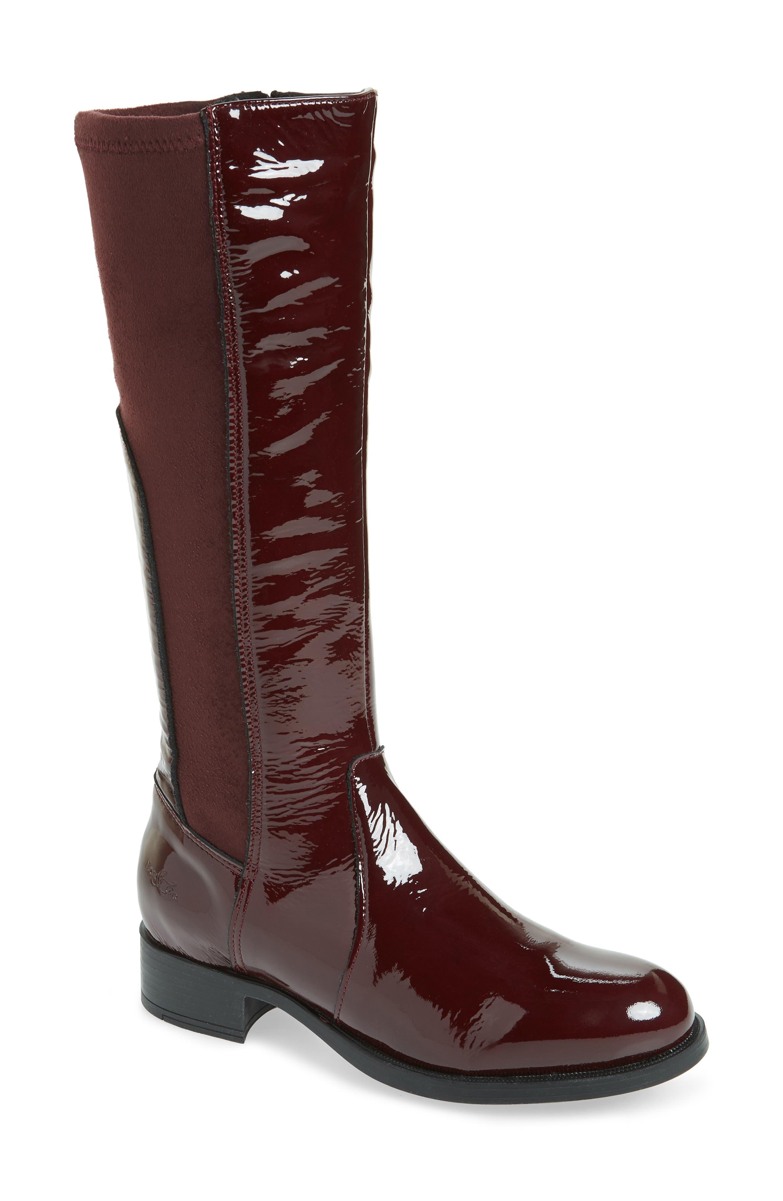 Bos. & Co. Brook Waterproof Knee High Boot - Red