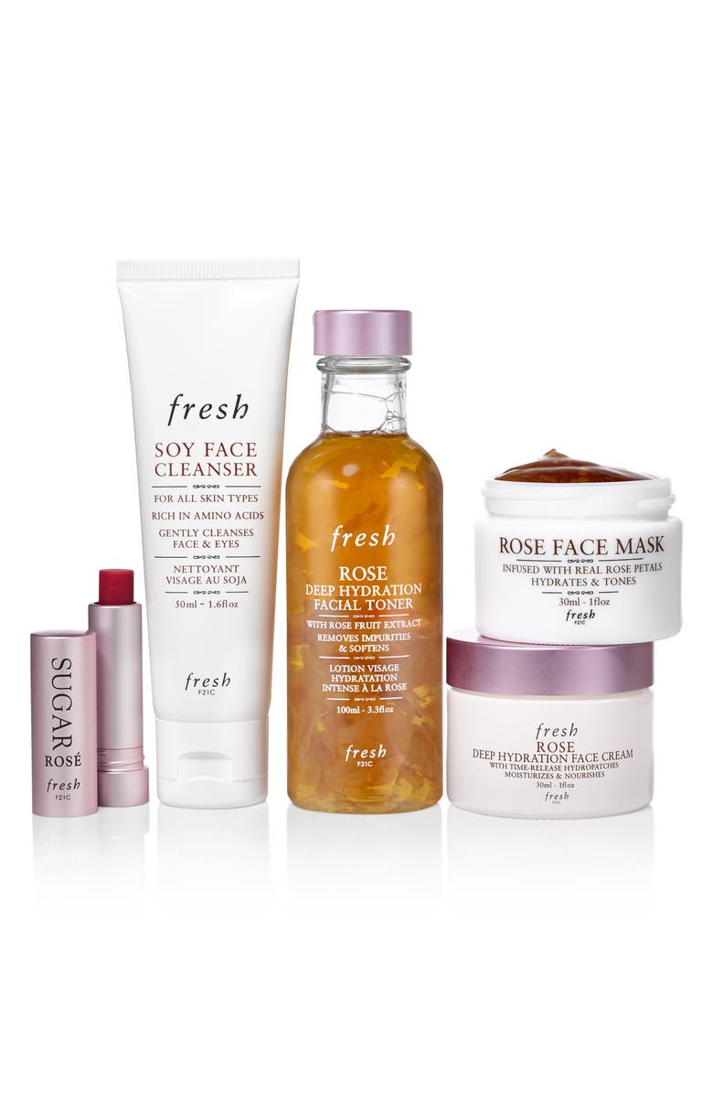 Rose Hydration Rush Ritual Set, Main, color, NO COLOR